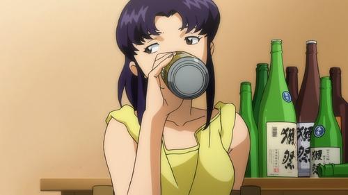 Misato-Evangelion-Sake-animees